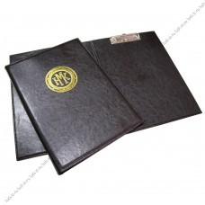 Адресная папка с зажимом для бумаг