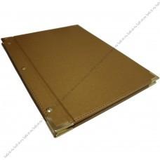 Заказать папки меню с металлическими уголками